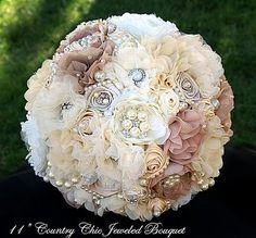 Vintage Ivory & Rose BROOCH bouquet- find custom wedding brooch bouquets perfect for any wedding vintage bridal brooch bouquets