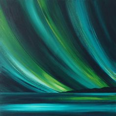 Northern Lights Painting Original on Canvas by ClaireFearonFineArt, £250.00