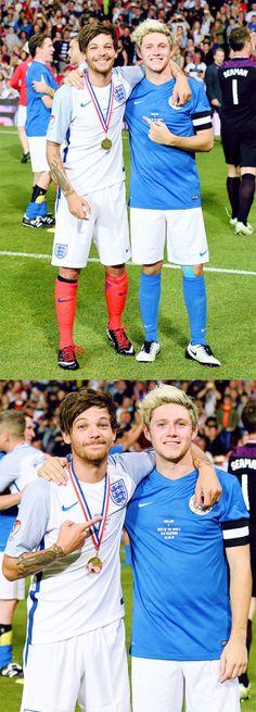 Louis Tomlinson & Niall Horan | Soccer Aid 6.5.16 | @emrosefeld |