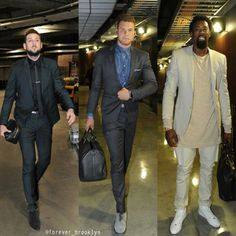 Marco Bellinelli, Blake Griffin, DeAndre Jordan. I say Blake dress most impressively... although his suit seems to tightly fitted.