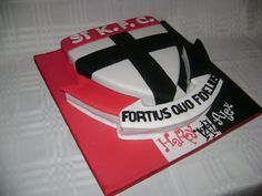 Little Wish Cakes St Kilda Footy Cake cakepins.com