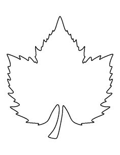 Grape leaf pattern. Use the printable outline for crafts, creating stencils, scrapbooking, and more. Free PDF template to download and print at http://patternuniverse.com/download/grape-leaf-pattern/