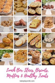 Our lunch box slices, biscuits, muffins & healthy treats recipes will keep your little ones tummies full and happy all term long!    #lunchbox #school #recipes #thermomix #conventional #easy #kidsrecipes #snacks #slices #bars #cookies #biscuits #muffins #healthyrecipes