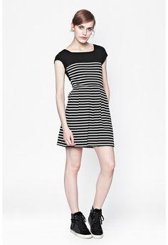 County Cotton Stripe Dress