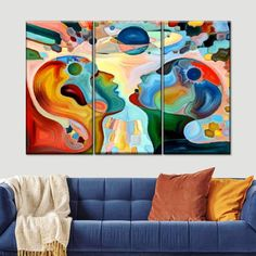 Worlds Apart Multi Panel Canvas Wall Art was designed to add beautiful colors to your walls. Bring this stunning wall art into your home to let the colors set a positive tone. Canvas Artwork, Canvas Frame, Canvas Wall Art, Wall Art Prints, Canvas Prints, Op Art, Cornhole, Abstract Face Art, Simple Artwork