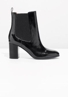 & Other Stories image 1 of Patent Leather Chelsea Boot in Black
