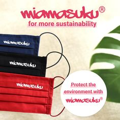 Buy a washable & reusable mask from miamasuku®. You will enjoy it for a long time if you take good care of it. At the same time you will protect the environment by avoiding waste through disposable masks. And you will look better with it anyway! School Enrollment, Buy Mask, Italian Words, Japanese Words, Mask Making, Sustainability, Environment, Face, Masks