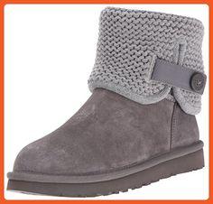 UGG Women's Shaina Slip on Slipper, Grey, 7 M US - Slippers for women (*Amazon Partner-Link)