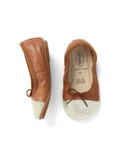 Gold Toed Breeze Ballet Flat by Old Soles