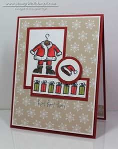 I think that I must be trying to think cool thoughts today!  I used the Get Your Santa On stamp set from Stampin' Up! to create my card to share today.  It's been HOT here in Atlanta this week and ...