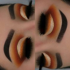 Gorgeous Makeup: Tips and Tricks With Eye Makeup and Eyeshadow – Makeup Design Ideas Makeup On Fleek, Glam Makeup, Eyeshadow Makeup, Makeup Art, Beauty Makeup, Hair Makeup, Eyeshadows, Orange Eyeshadow, Eyeshadow Ideas