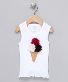 Take a look at this Neapolitan Shabby Bling'n Cone Tank - Infant, Toddler & Girls by Paddi Cake Bowtique on #zulily today!