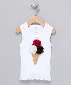 DIY sobre camiseta básica. Diseño. Helado.