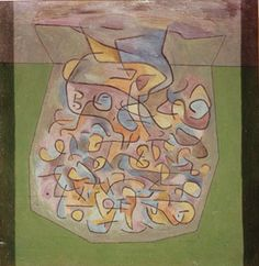Paul Klee 'Untitled' on reverse of 'Blossoming'