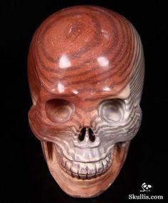 Australian Print Stone Crystal Skull
