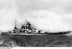 German Battleship Scharnhorst. The Scharnhorst was sunk on December 26, 1943, during the Battle of North Cape.
