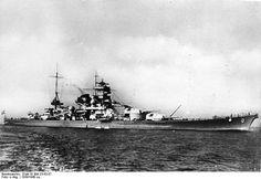 German Battleship Scharnhorst. The Scharnhorst was sunk on December 26, 1943, during the Battle of North Cape.