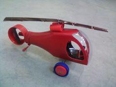 Śmigłowiec wykonany z butelek po keczupie. HELICOPTER RECYKLING MODEL DIY