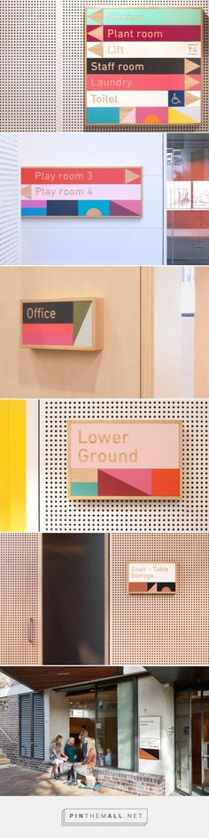 Signage / Wayfinding with building blocks