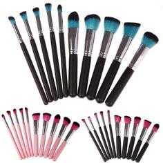 FlyQueens Deluxe 10 Piece Makeup Brush Set