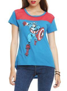 Marvel Captain America Mesh Girls T-Shirt
