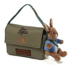 """Gund for Nickelodean Peter Rabbit 10"""" Messenger Bag Plush -- Click on the image for additional details."""