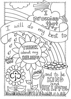 girl scout promise coloring page # 16