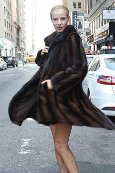 ecfe5694f Marc Kaufman Furs Presents a black and brown mink fur swing stroller from Marc  Kaufman Furs