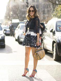 Wearing Chloe in Paris