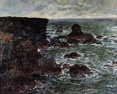 Rocky Coast and the Lion Rock, Belle-Ile, 1886 Claude Monet