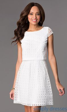 Two Piece Lace Dress by Jessica Simpson | Simply Dresses