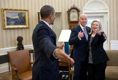 President Barak Obama Joking Around With Vice President Joe Biden & Secretary Of State Hilary Clinton.... :0)