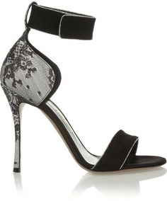 Nicholas Kirkwood Suede, lace and satin sandals on shopstyle.com
