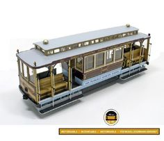 Model Kit Occre - San Francisco - Tram - Cable Car