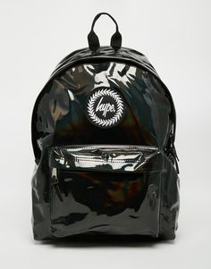 Hype Backpack in Black PVC