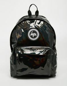 Hype Backpack in Black PVC