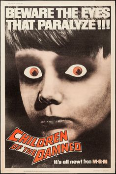 Pop Culture Safari!: Vintage movie poster: Children of the Damned