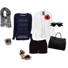 Black & Navy Together, created by mspsmartypants on Polyvore
