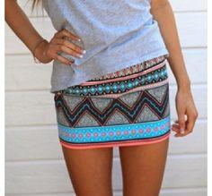 Love the tribal skirts  Follow @ashmckni for more women's fashion.