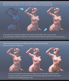 Body Reference, Drawing Reference Poses, Anatomy Reference, Drawing Poses, Digital Painting Tutorials, Digital Art Tutorial, Painting Tips, Art Tutorials, Digital Paintings