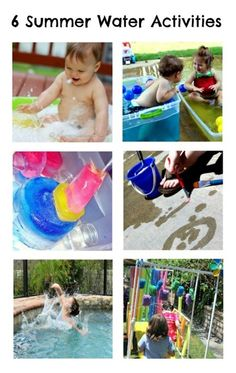 6 Fun Water Activities and the Weekly Kids Co-Op at B-InspiredMama.com.
