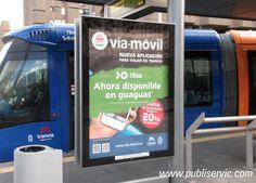 Rotulación para muppies Vía - Móvil. ¿te interesa? Contacta con nosotros. #rotulacion #vehiculo #tranvia #publiservic #mupis