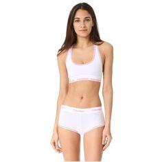 Calvin Klein Underwear Modern Cotton Bralette (380 ZAR) ❤ liked on Polyvore featuring intimates, bras, calvin klein underwear, cotton jersey, neon bra, cotton bras and bralette bras