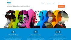 http://www.rdio.com/ #Web Design
