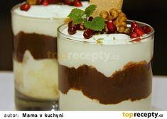 Tvarohový dezert s oříškovým krémem recept - TopRecepty.cz Panna Cotta, Pudding, Ethnic Recipes, Food, Puddings, Meals