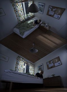 Optical Illusion Art The Mate on the Ceiling