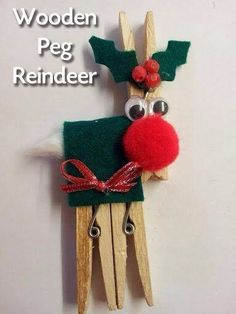 Newly Creative Mumma: Wooden Peg Christmas Reindeer Craft