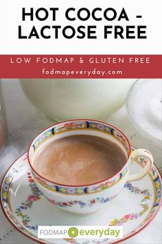 If you think hot cocoa comes in individual packets with hard little nuggets that are supposed to be mini marshmallows – then this recipe will be a revelation. When we want decadence, we make our Parisian-style Hot Chocolate. #glutenfree #dairyfree #easyrecipe #holidaysrecipe #lowfodmapdiet#fodmap #lowfodmap #fodmapeveryday #ibs #ibsdiet