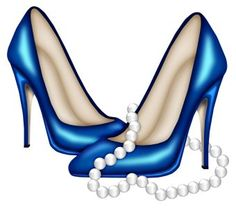 Blue High Heels and Pearls Shoe Sketches, Fashion Sketches, Shoes Clipart, Fashion Illustration Shoes, Fashion Art, Fashion Shoes, Glamour Moda, How To Make Shoes, Shoe Art