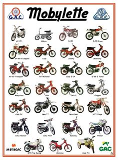Second Mobylette season - My Ideas & Suggestions Vintage Moped, Vintage Motorcycles, Cars And Motorcycles, Custom Motorcycles, Vintage Cars, Motorcycle Mechanic, Motorcycle Posters, Vespa Models, Mountain Bike Shop